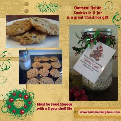 Oatmeal Raisin Cookies in a Jar