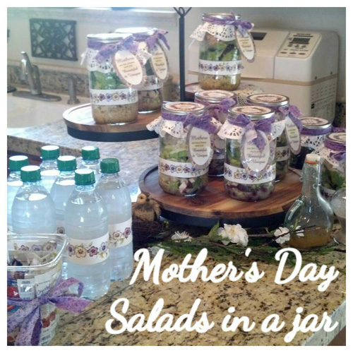 Mother's Day Salads in a Jar
