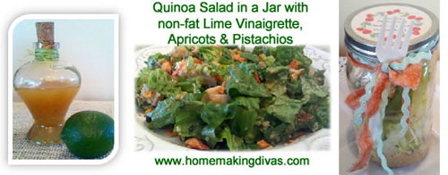 Quinoa Salad in a Jar with Lime Vinaigrette