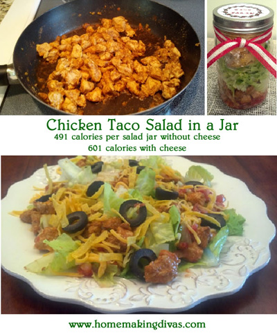 Chicken Taco Salad in a Jar