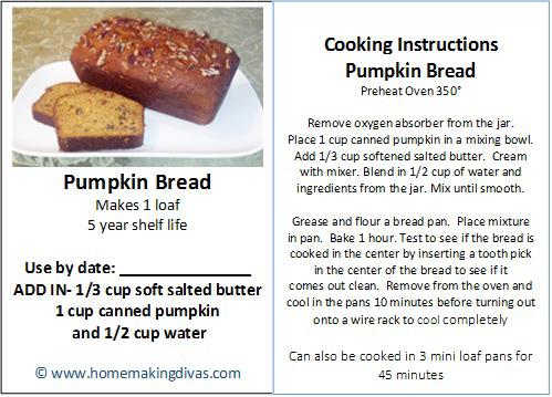Tag for Pumpkin Bread in a Jar