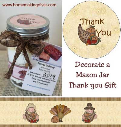 Decorate a Mason Jar as a Thanksgiving Thank You Gift