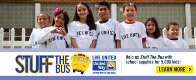 Stuff the bus community service project